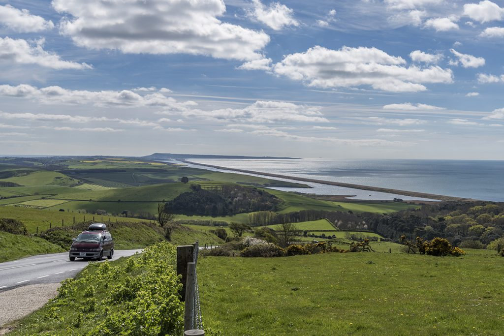 abbotsbury hill and view over st catherines chapel
