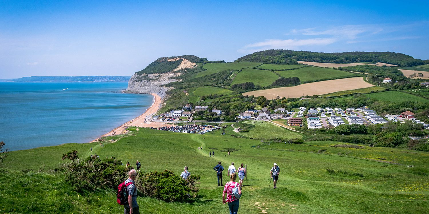 Seatown in Dorset. Coastal walks in west Dorset.