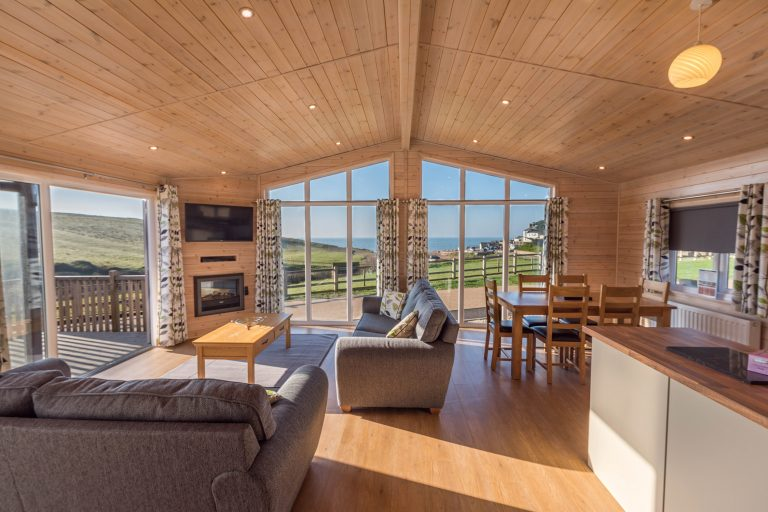 Holidays in Seatown in a luxury lodge at Golden Cap Holiday Park