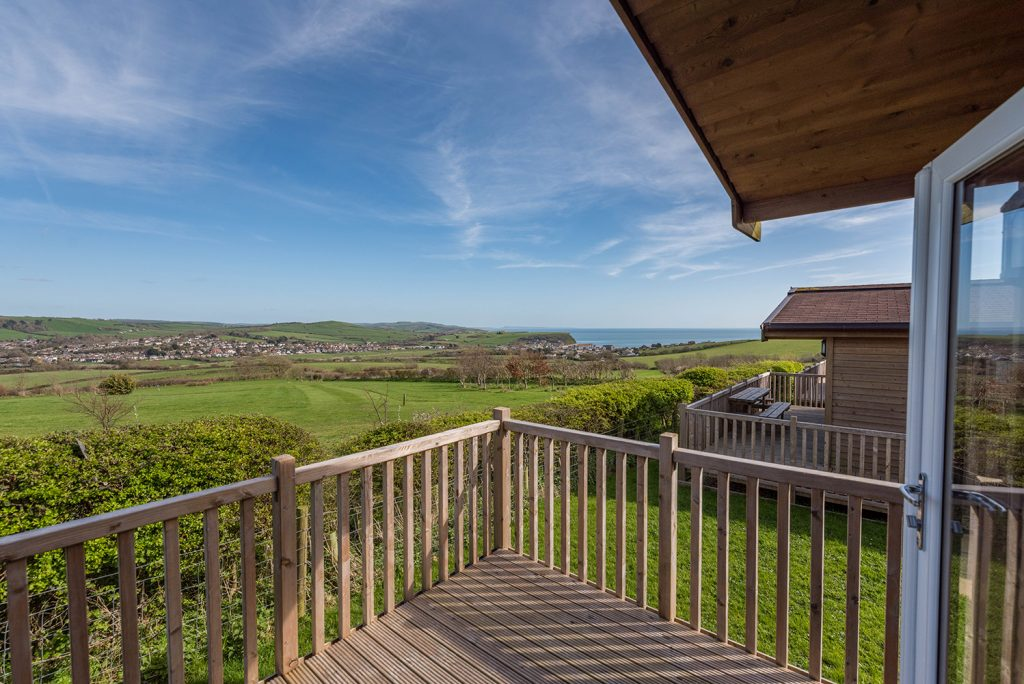 Sea view holidays in Dorset at Highlands End Holiday Park