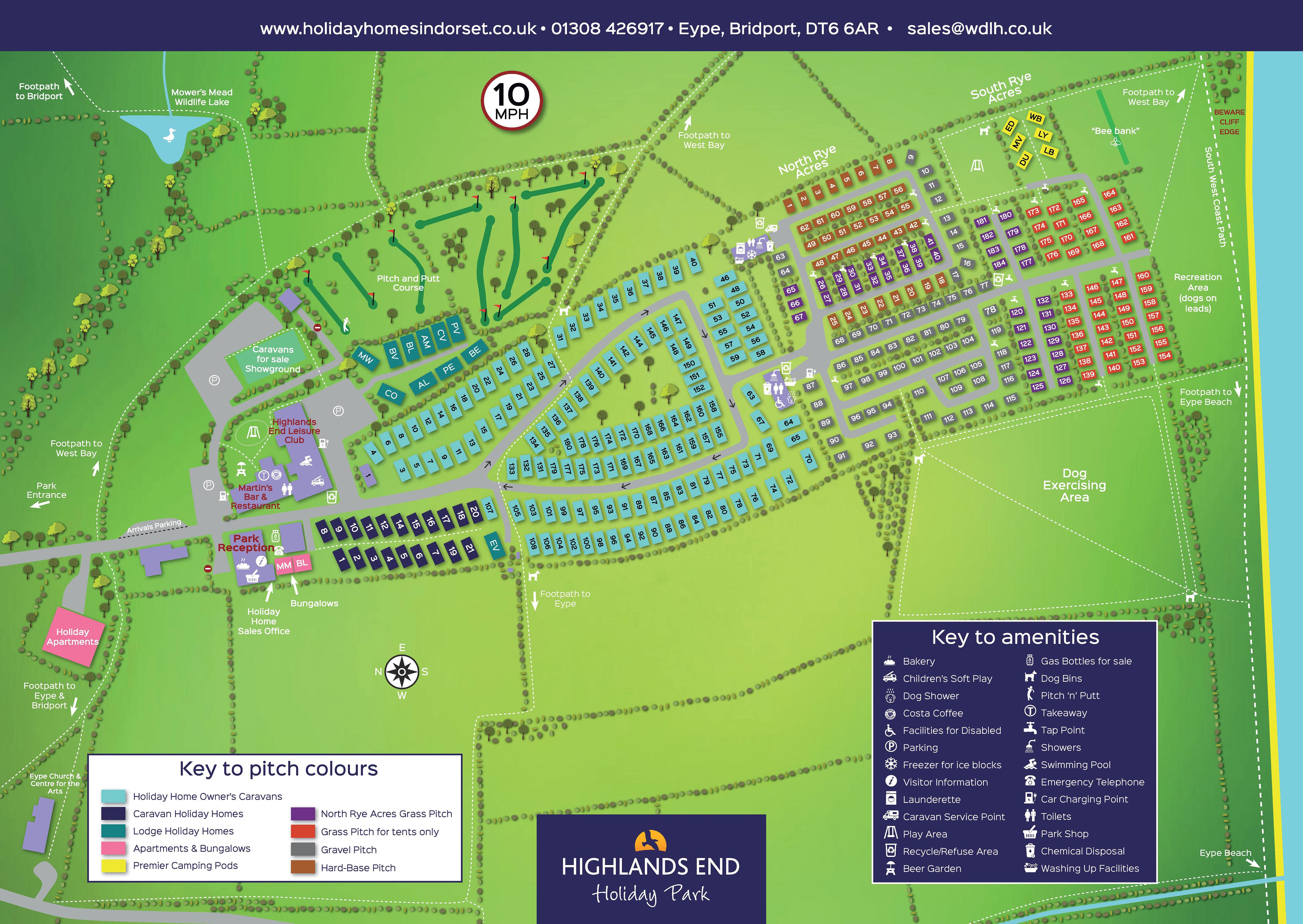 Download The Park Map For Highlands End Holiday Park