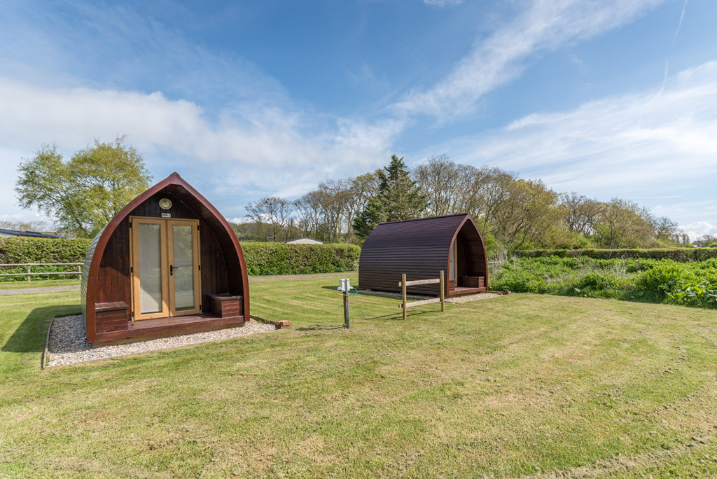 camping pod Dorset at Graston Copse Holiday Park