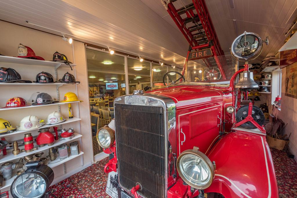 Fire engine memorabilia in Martin's Bar & Restaurant