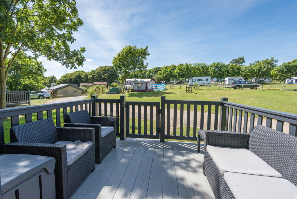 Glamping holidays in Dorset at Golden Cap Holiday Park