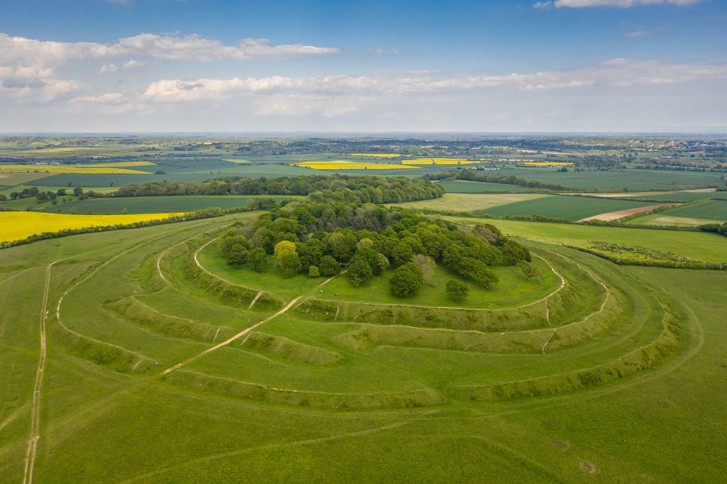 badbury rings in Dorset
