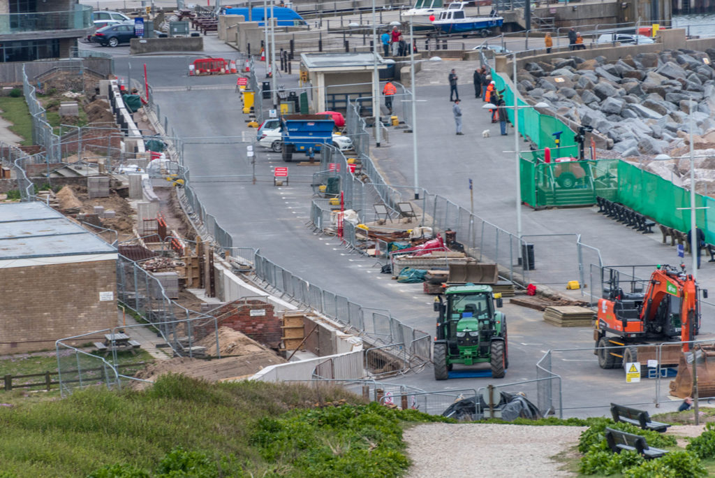 Coastal defence works at West Bay Dorset