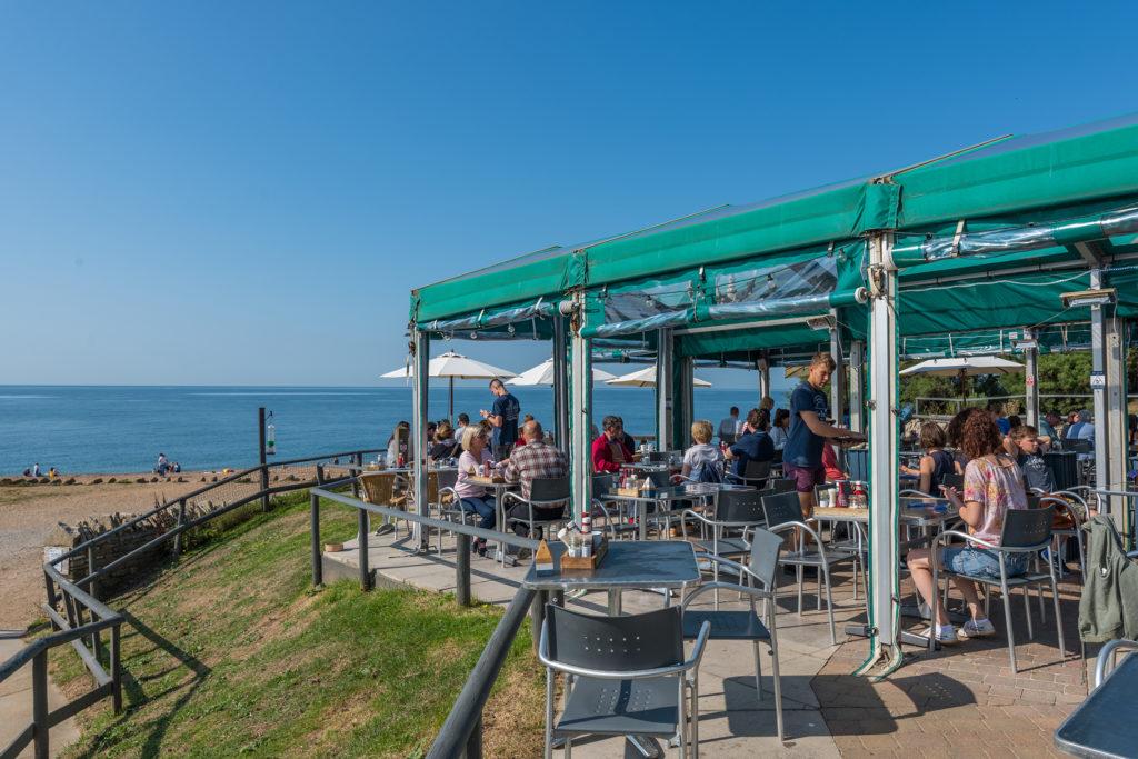 Hive Beach Cafe at Burton Bradstock, Dorset