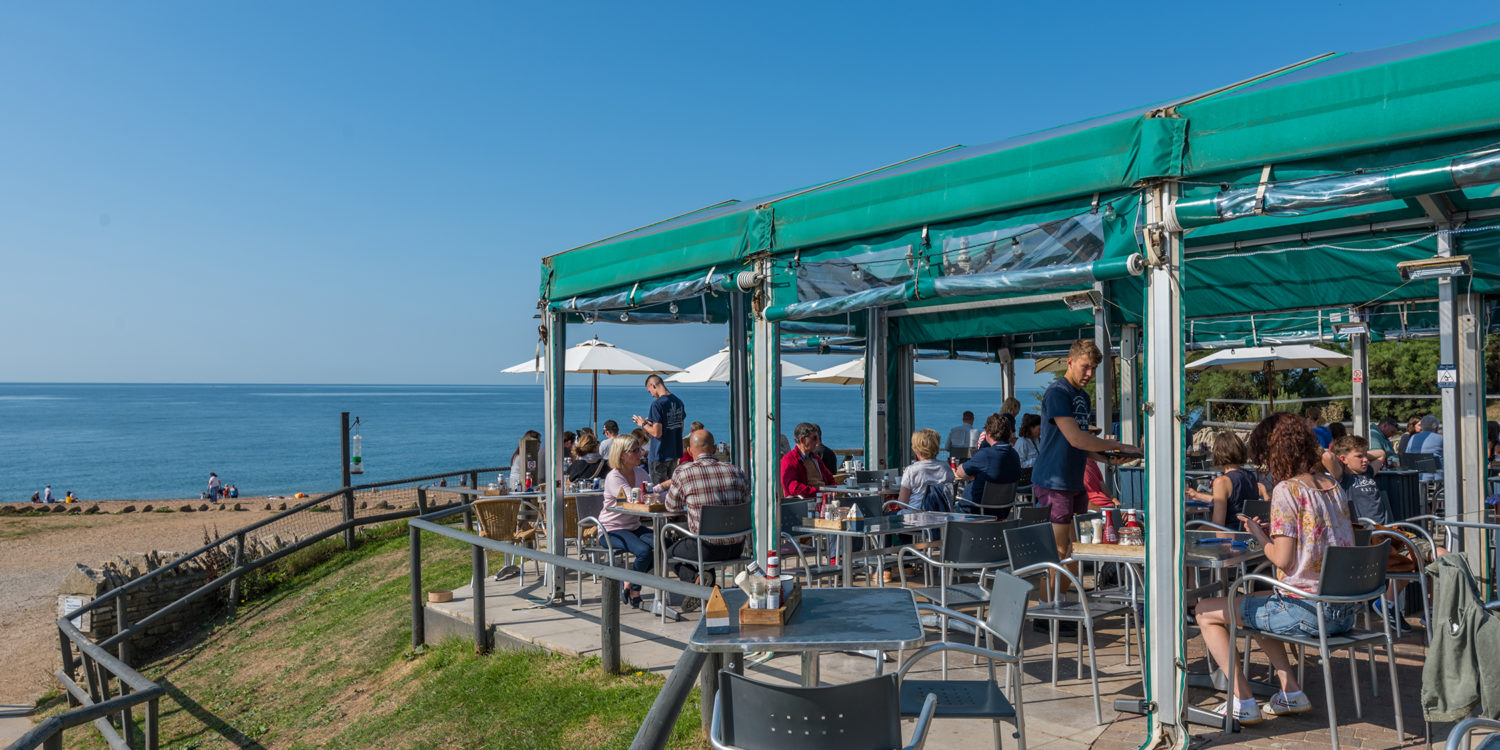 Hive Beach Cafe at Burton Bradstock, Dorset