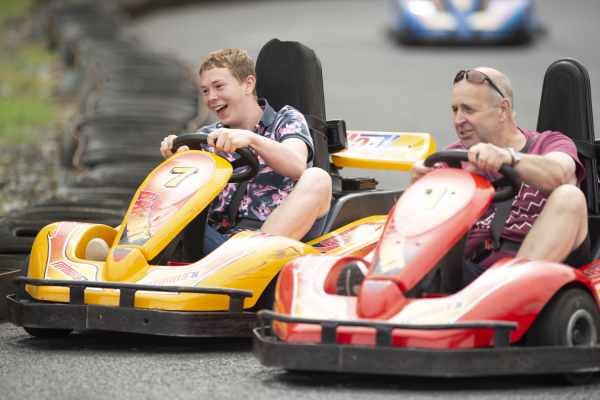 Grand Prix kart racing at Crealy Theme Park