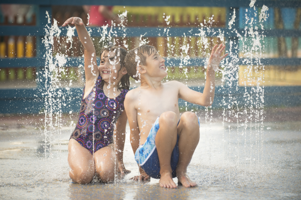 Children in Soak Zone at Crealy Theme Park