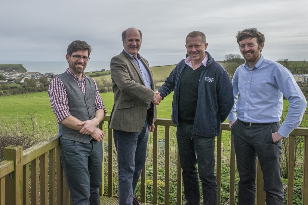 Jurassic Coast Trust staff and Martin Cox