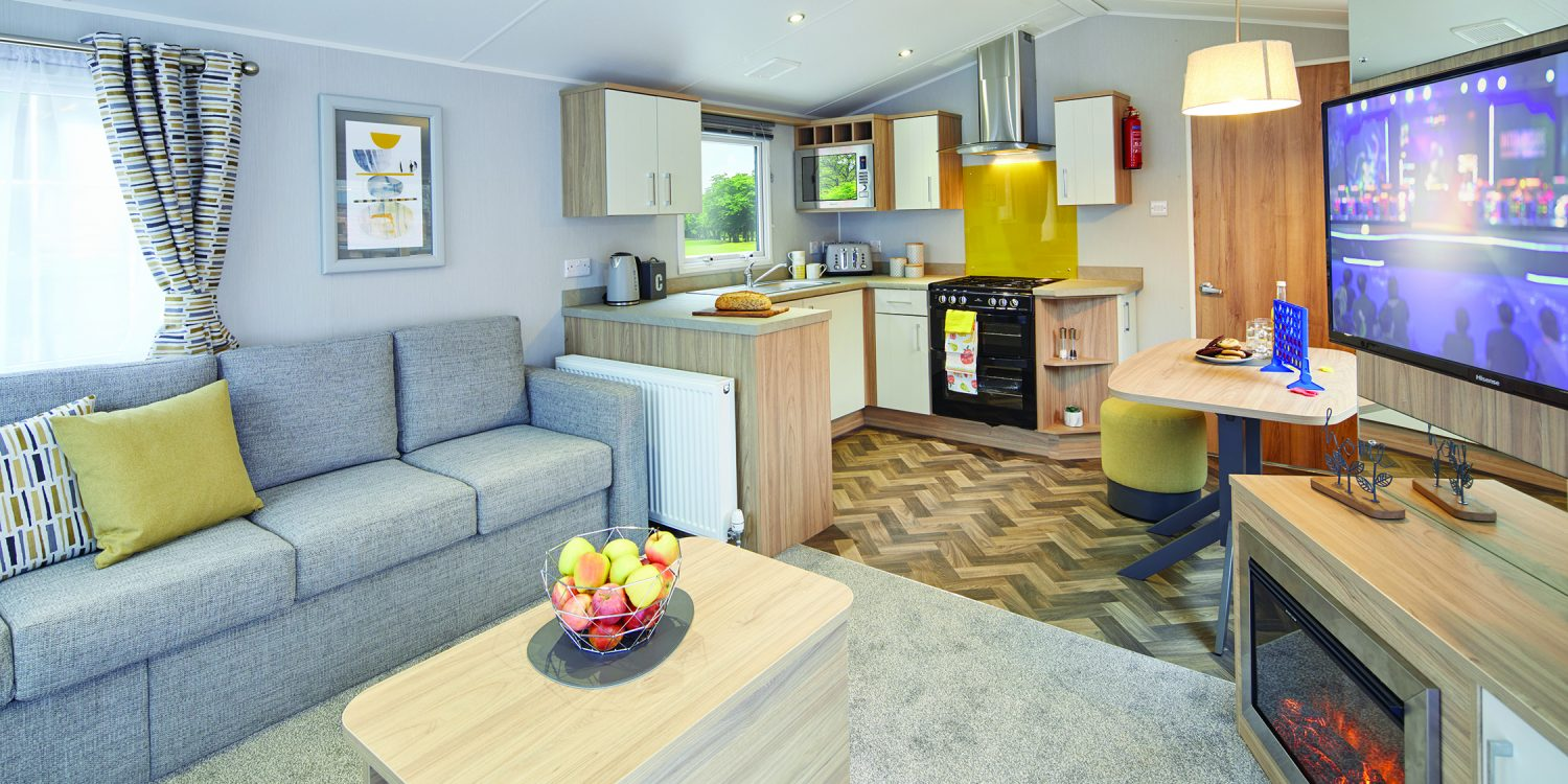 Deluxe caravans at Highlands End and Golden Cap Holiday Parks