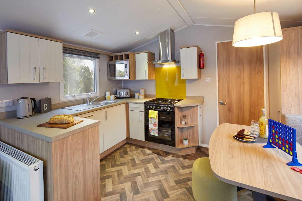 Deluxe caravans kitchen