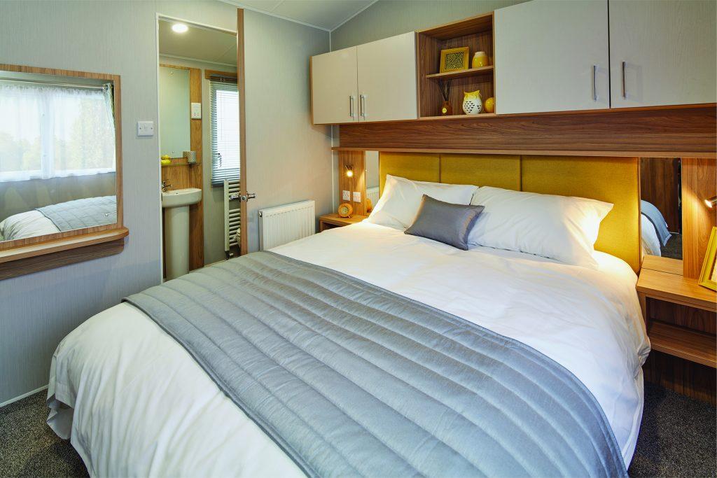 Deluxe caravans master bedroom