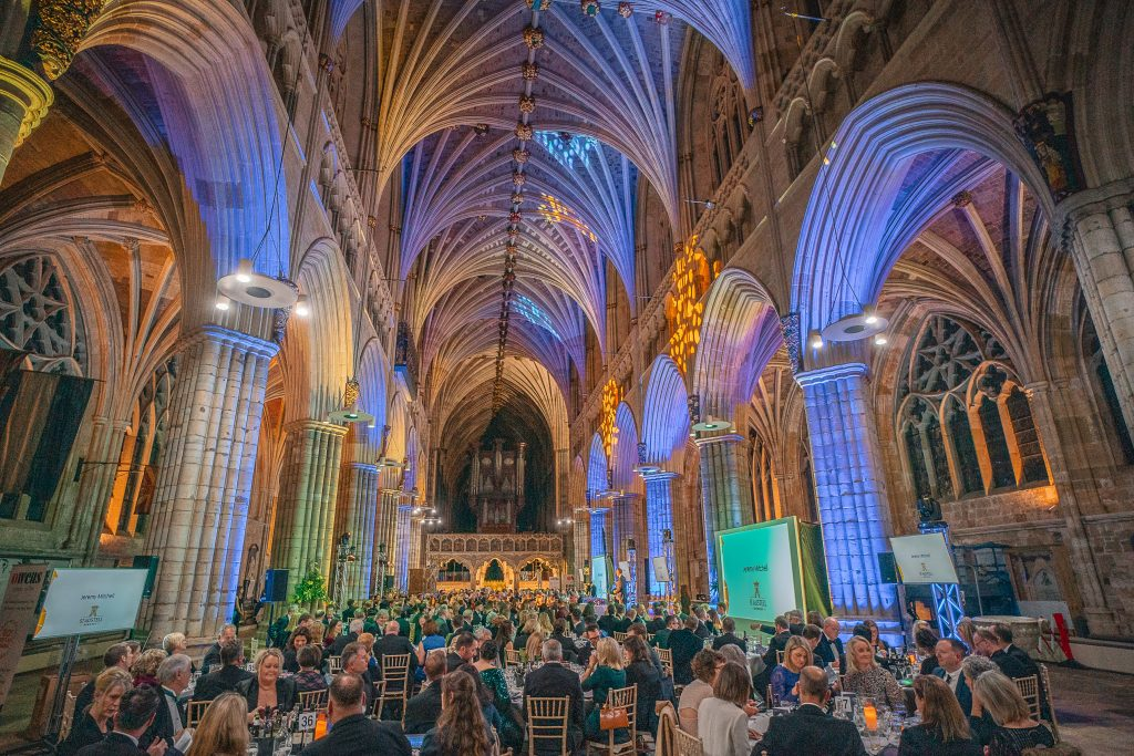 South West Tourism Awards 2020. Exeter Cathedral.