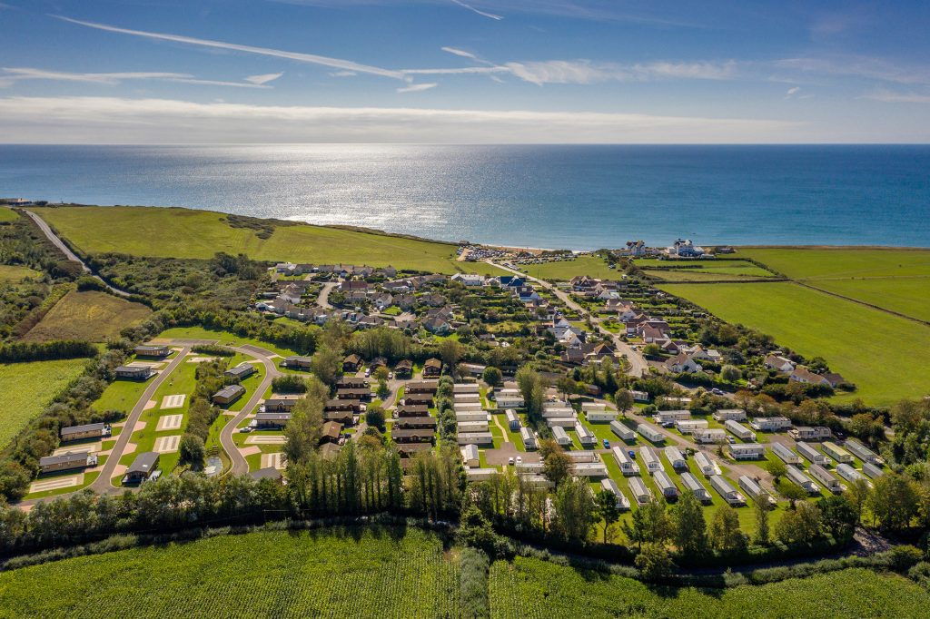 Aerial view of Larkfield Holiday Park, perfect for a UK staycation